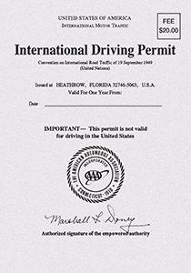 USA International Driving Permit